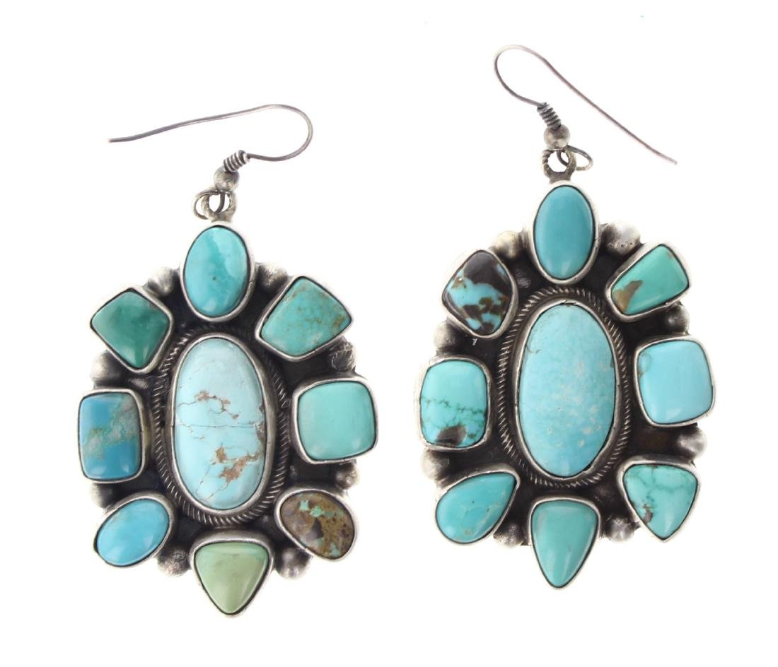 Sterling Silver Genuine Kingman Turquoise Contemporary