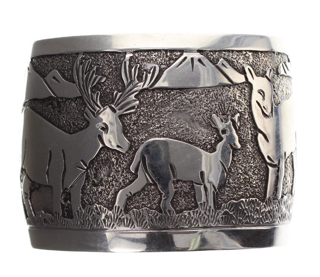 Sterling Silver Story Teller Design Dear Bracelet