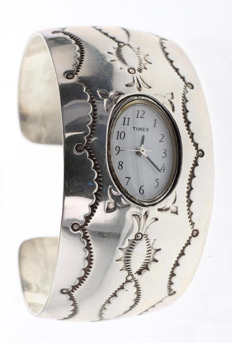 Sterling Silver Contemporary Watch Bracelet Navajo
