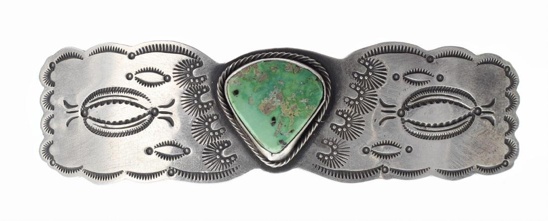 Sterling Silver Genuine Carico Lake Turquoise Vintage