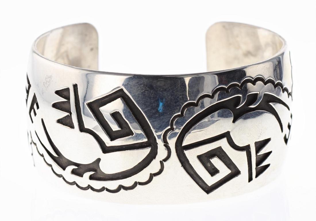 Sterling Silver Hopi Design Bracelet Navajo Native