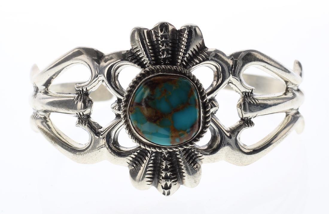 Sterling Silver Wilson Begay Genuine Turquoise Vintage