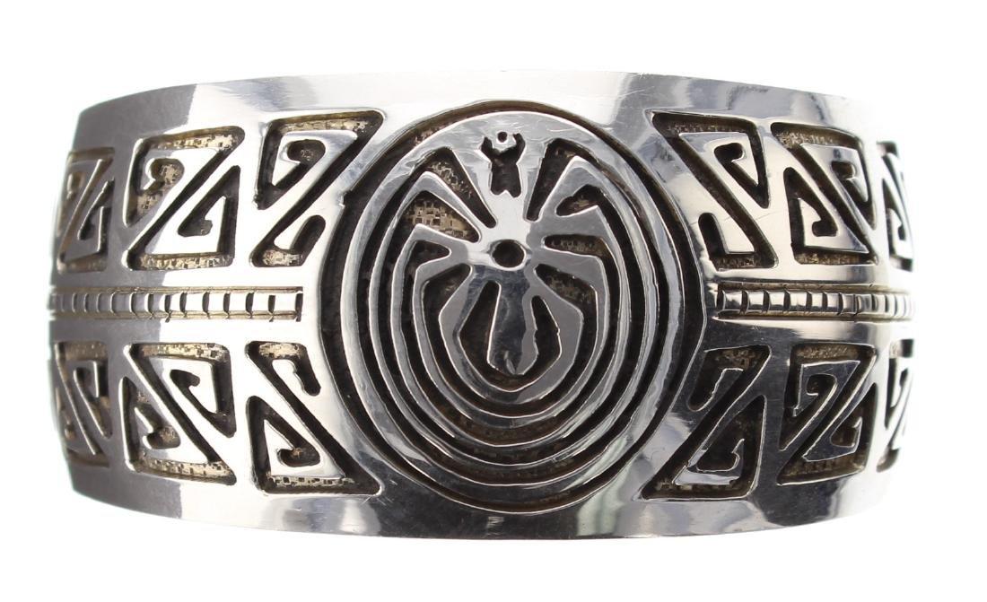 Sterling Silver Man In the Maze Design Bracelet Navajo