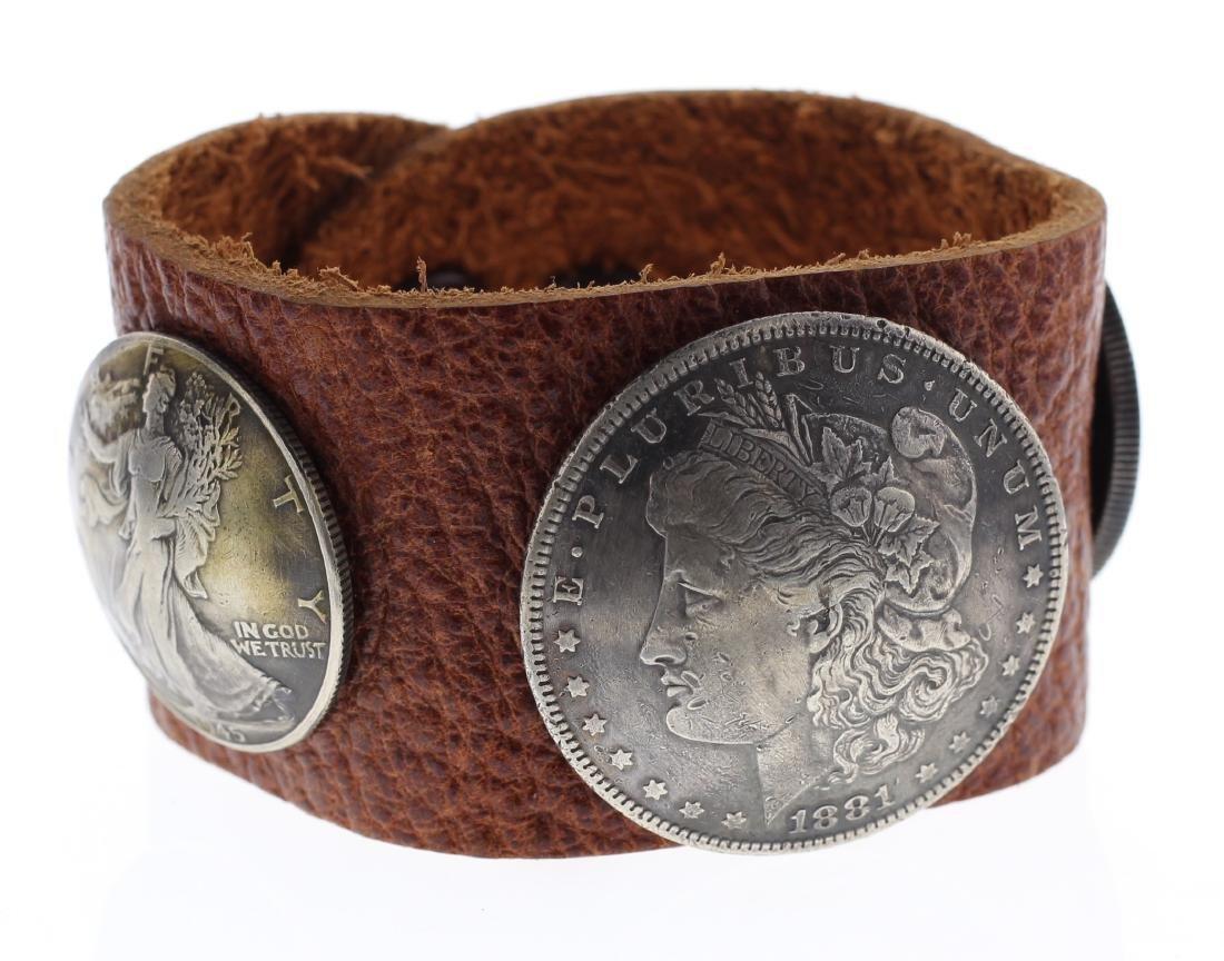 Sterling Silver Genuine Morgan Dollar & Standing