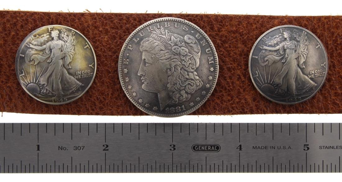 Sterling Silver Genuine Morgan Dollar & Standing - 2