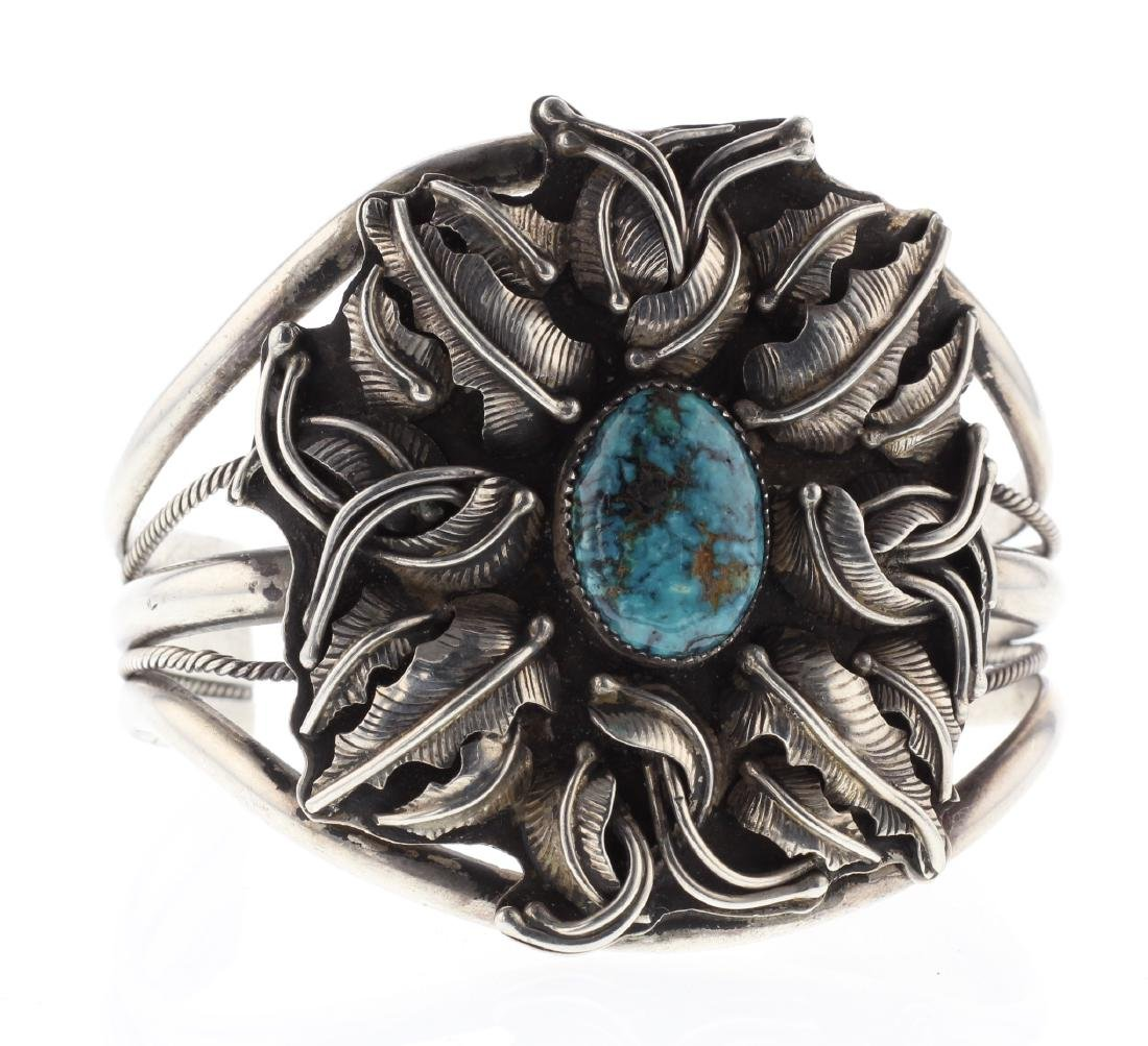 Sterling Silver Genuine Turquoise Vintage Masterpiece