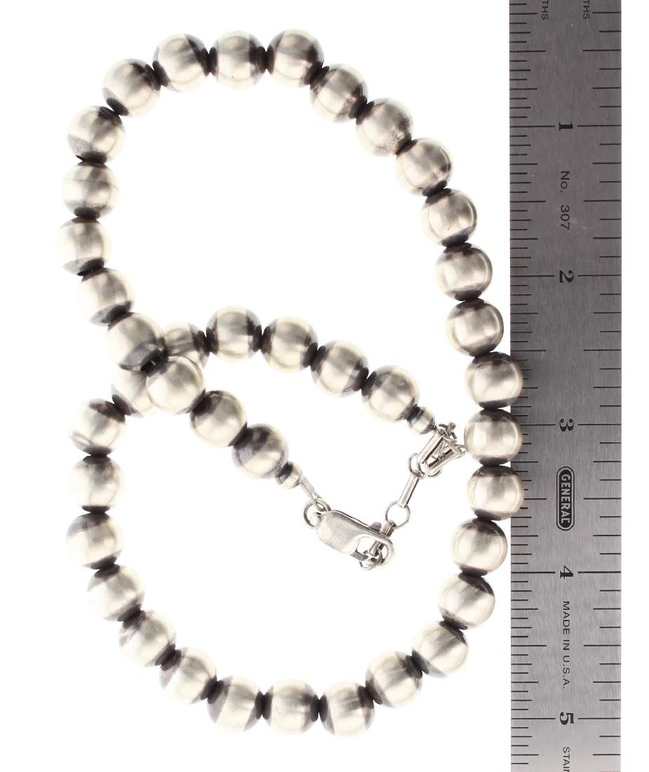 Sterling Silver Oxidized Beads Necklace - 2