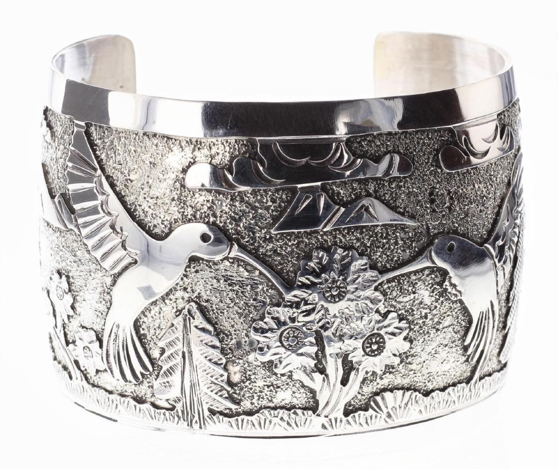 Sterling Silver Humming Bird Story Teller Design