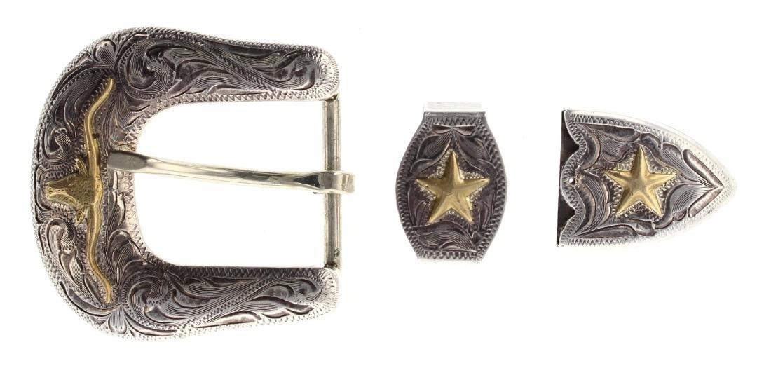 Sterling Silver Vintage Ranger Belt Set Navajo Native