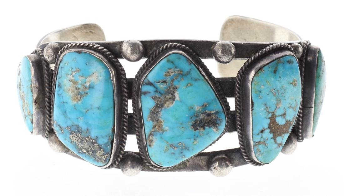 Sterling Silver Genuine Turquoise vintage Old Pawn