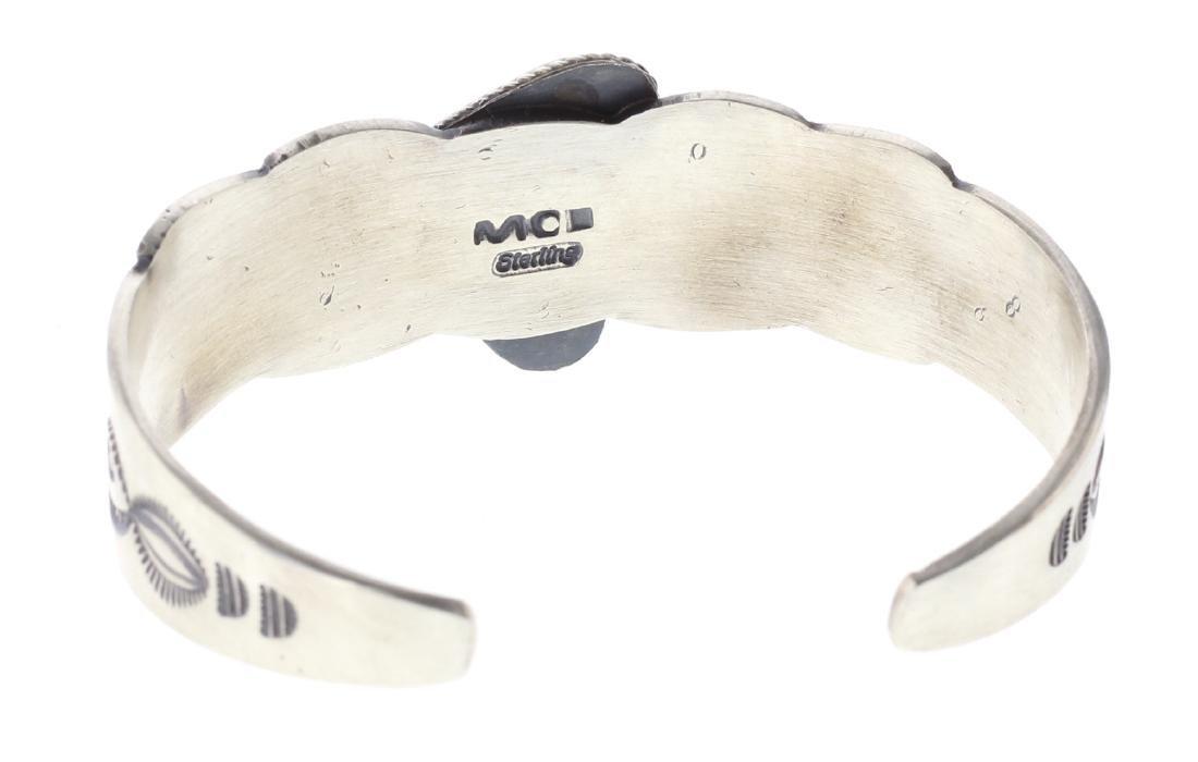 Sterling Silver Genuine Turquoise Bracelet Navajo - 3