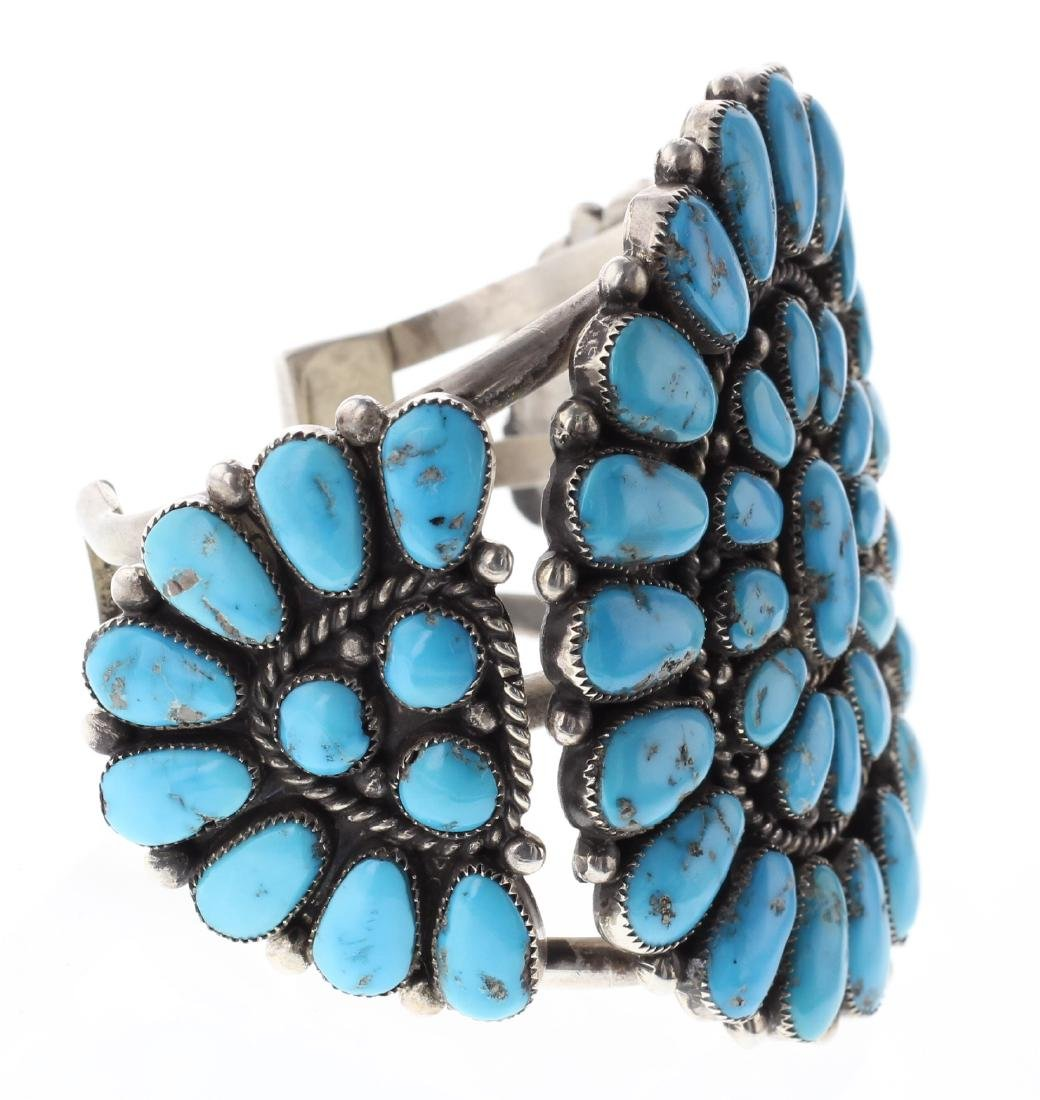 Sterling Silver Genuine Turquoise Masterpiece Vintage - 2