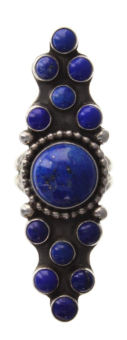 Sterling Silver Genuine Lapis Ring Navajo Native