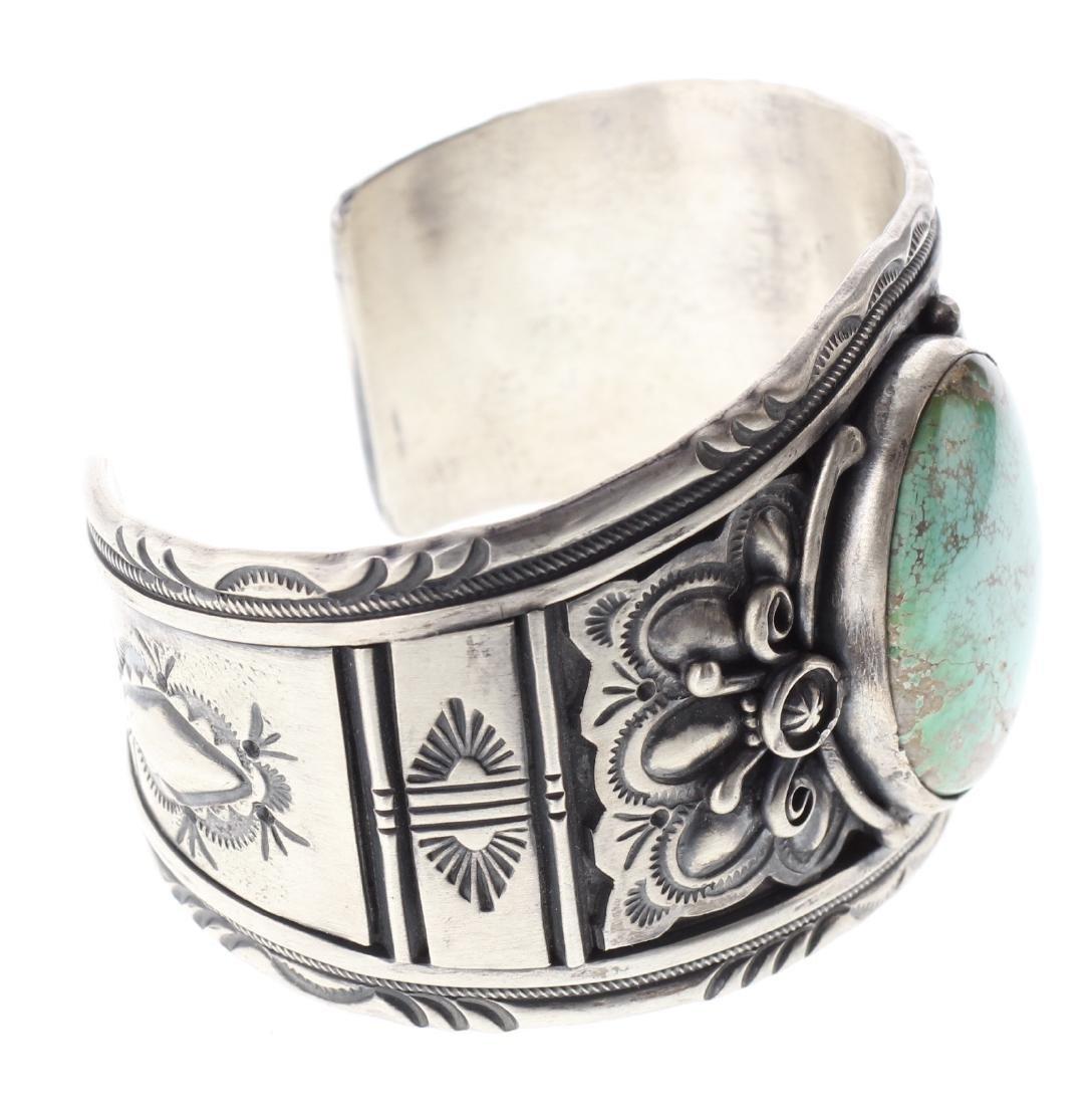 Sterling Silver Genuine Turquoise Masterpiece Bracelet - 2