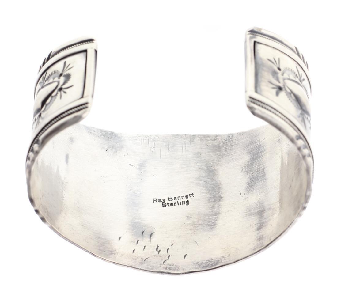 Sterling Silver Genuine Turquoise Masterpiece Bracelet - 3