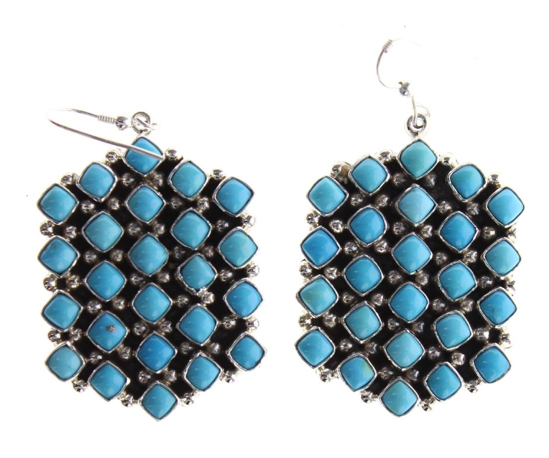 Sterling Silver Genuine Sleeping Beauty Turquoise