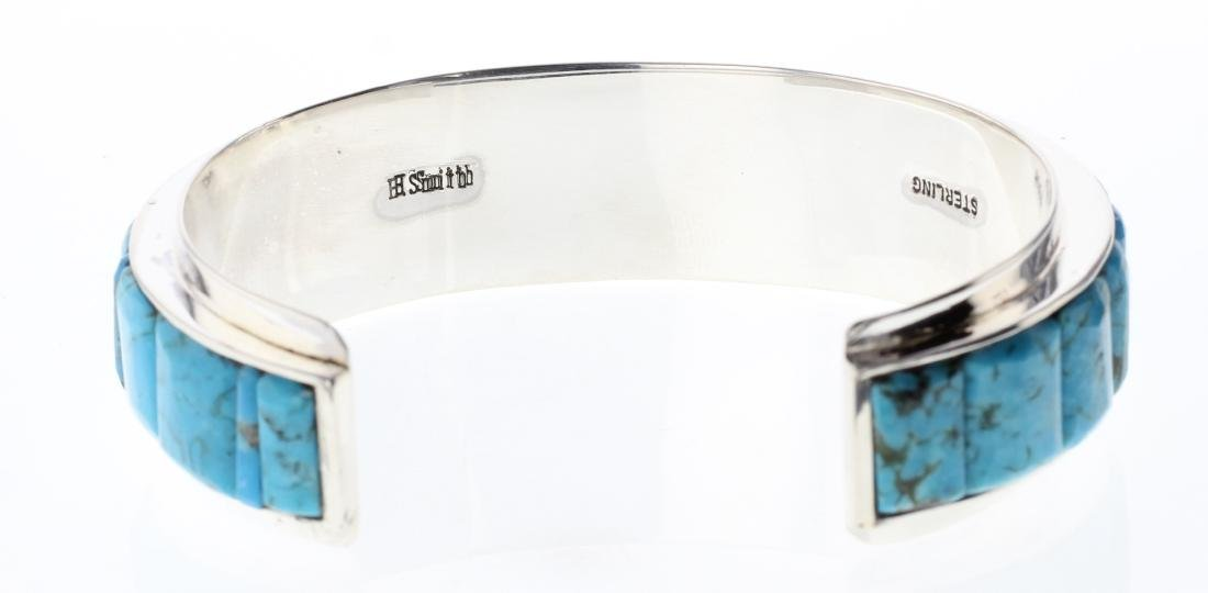 Sterling Silver Genuine Turquoise Cobblestone Inlay - 2