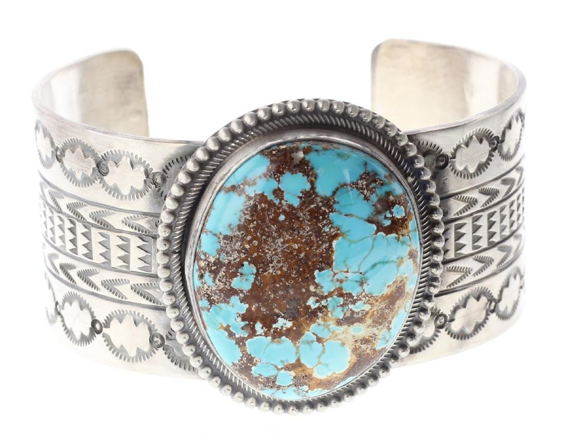 Sterling Silver Genuine Turquoise Masterpiece Heavy