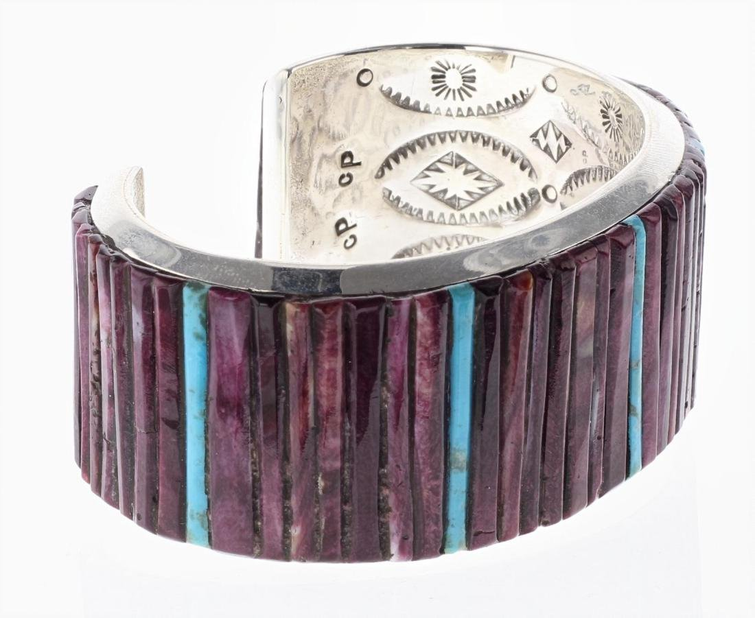 Sterling Silver Genuine Purple Spiny Oyster & Turquoise