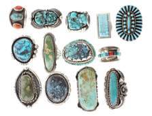 Sterling Silver Genuine Turquoise  Coral Vintage