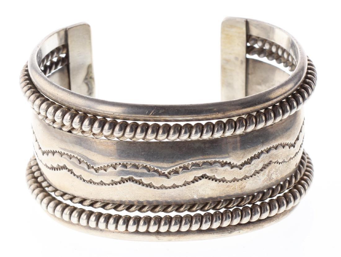 Sterling Silver Vintage Twist Wire Bracelet Navajo