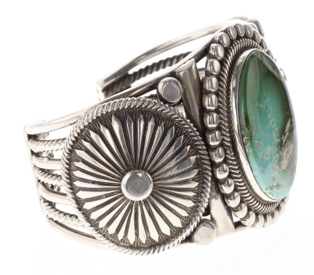 Sterling Silver Genuine Kingman Turquoise Masterpiece - 2