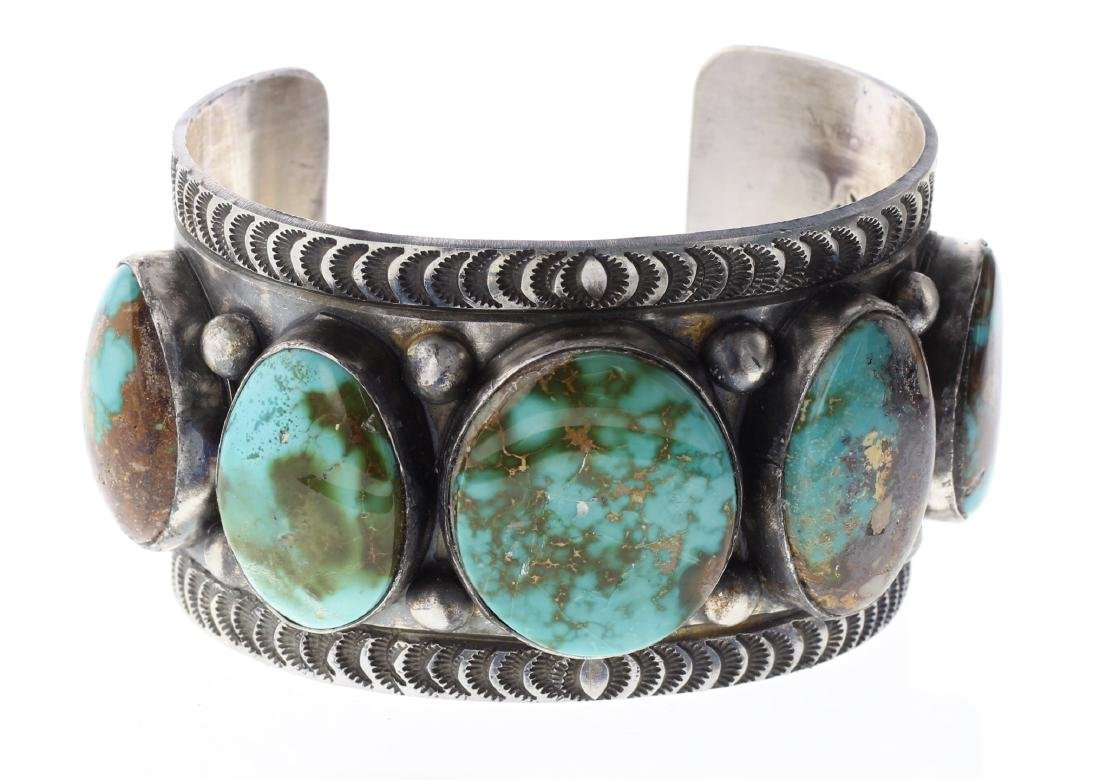 Sterling Silver Genuine Turquoise Masterpiece Large