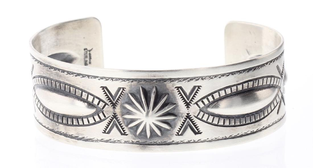 Contemporary Heavy Stamp Bracelet