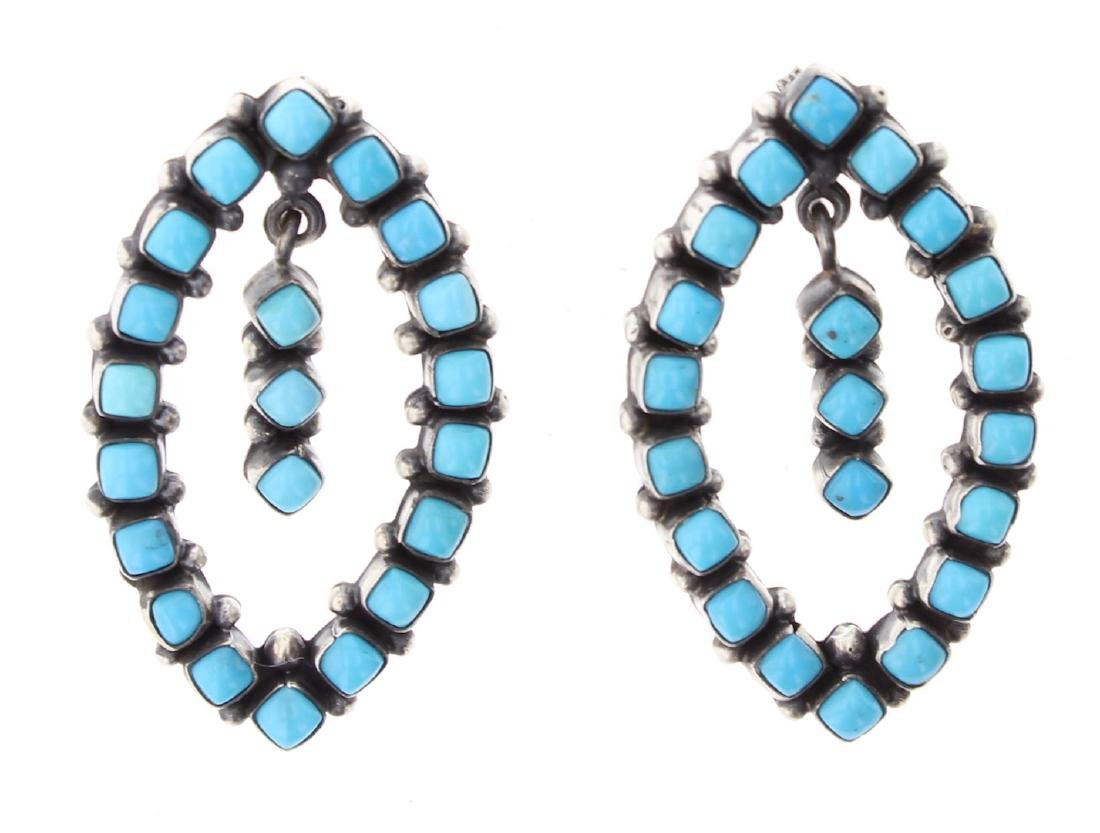 Contemporary Sleeping Beauty Turquoise Earrings