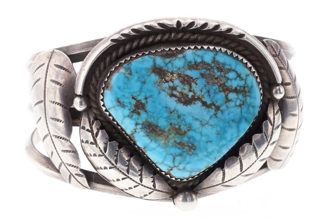 Vintage Turquoise Leaf Masterpiece Bracelet