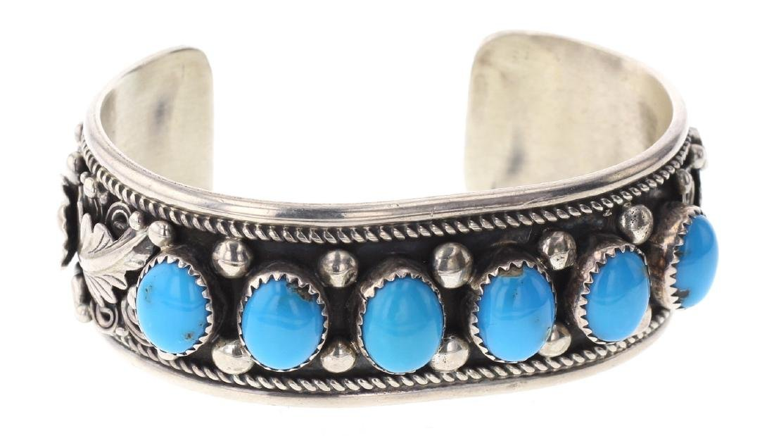 Turquoise Large Stone Row Bracelet