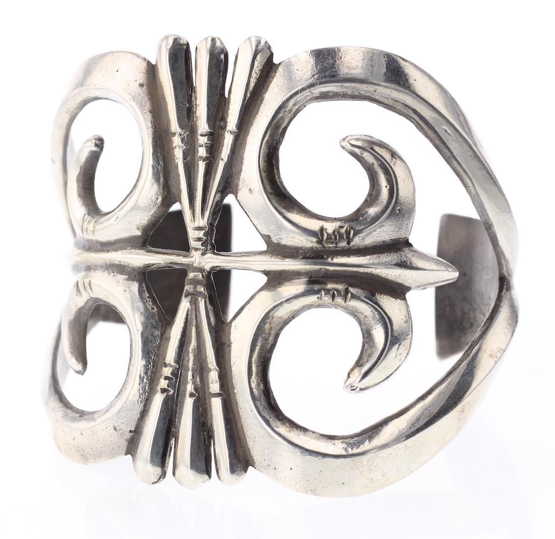 Vintage Old Pawn Sand Cast Bracelet