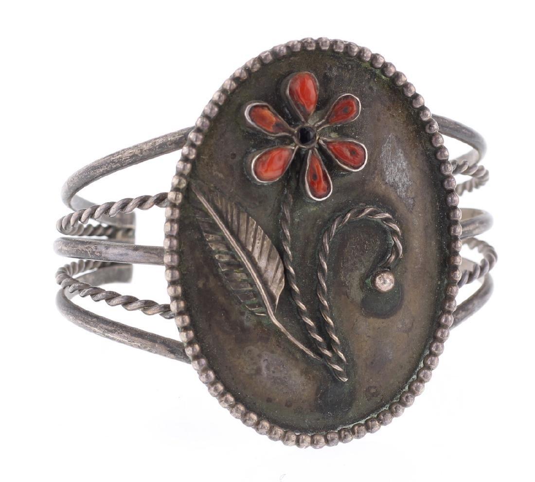 Vintage Old Pawn Flower Bracelet