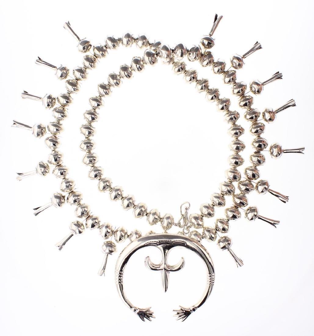 Contemporary Squash Blossom Necklace