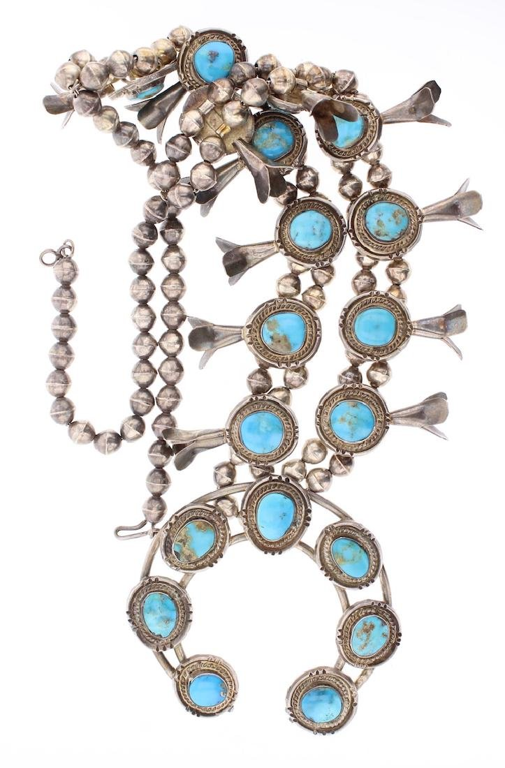 Vintage Old Pawn Squash Blossom Necklace