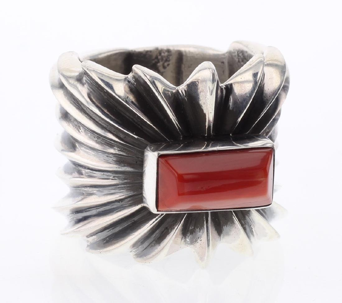 Coral Sand Cast Ring
