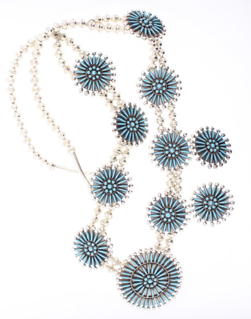 Sleeping Beauty Turquoise Needlepoint Masterpiece
