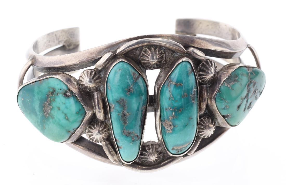 Vintage Old Pawn Turquoise Bracelet
