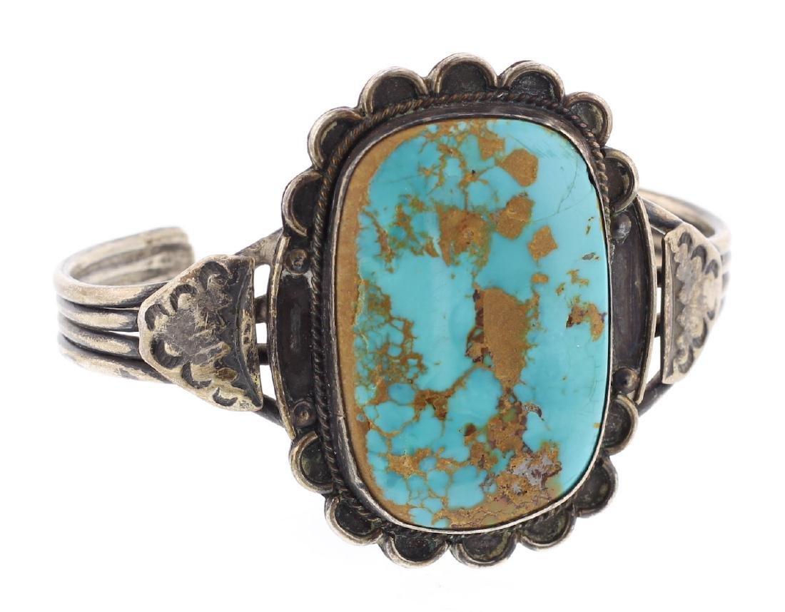 Vintage Old Pawn Large Stone Bracelet