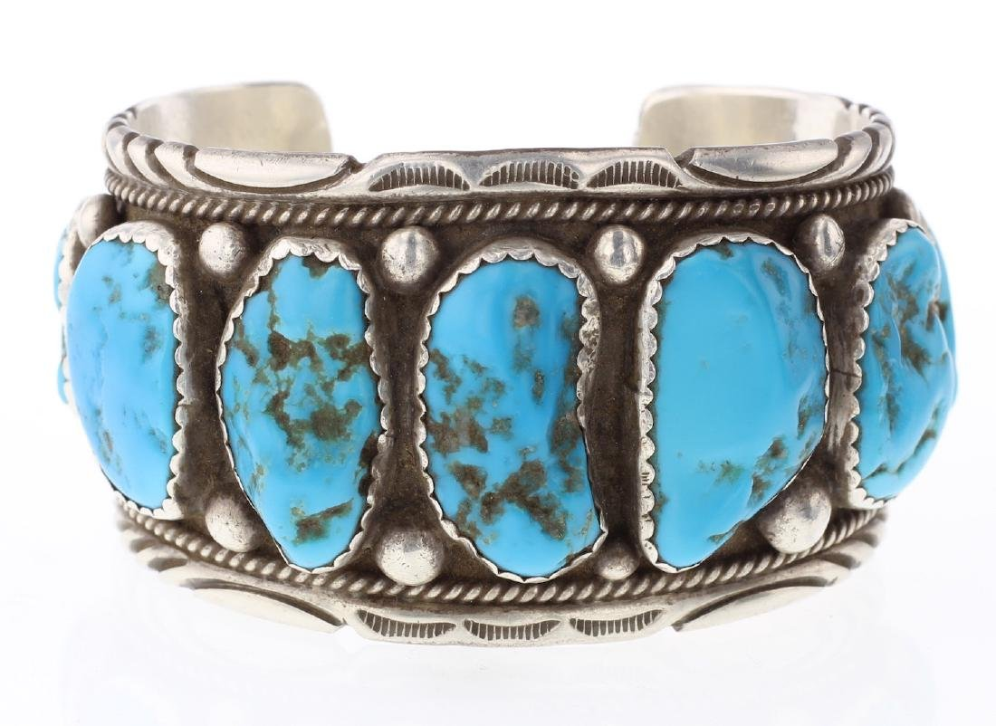 Old Pawn Vintage Masterpiece Turquoise Large Stone