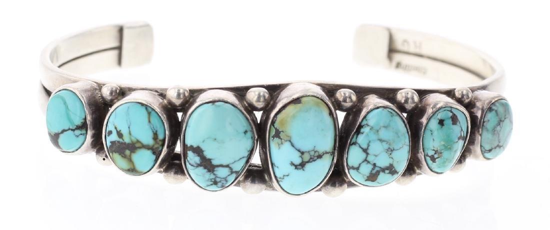 Vintage Turquoise Row Bracelet