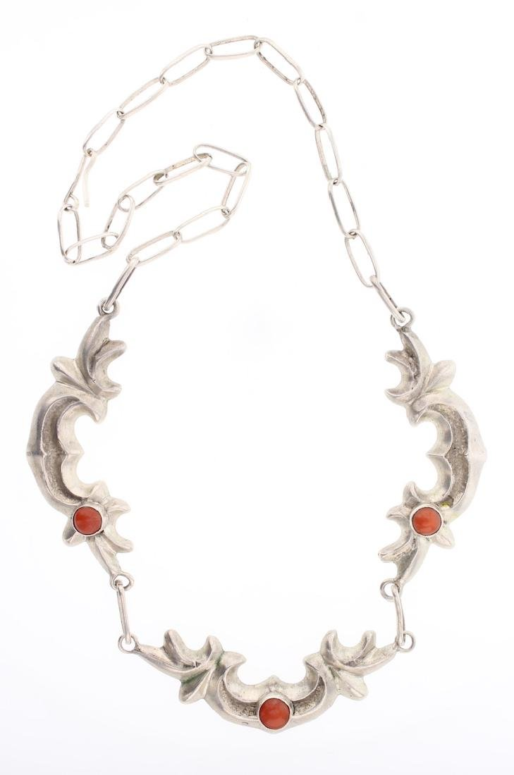 Vintage Sand Cast Coral Necklace