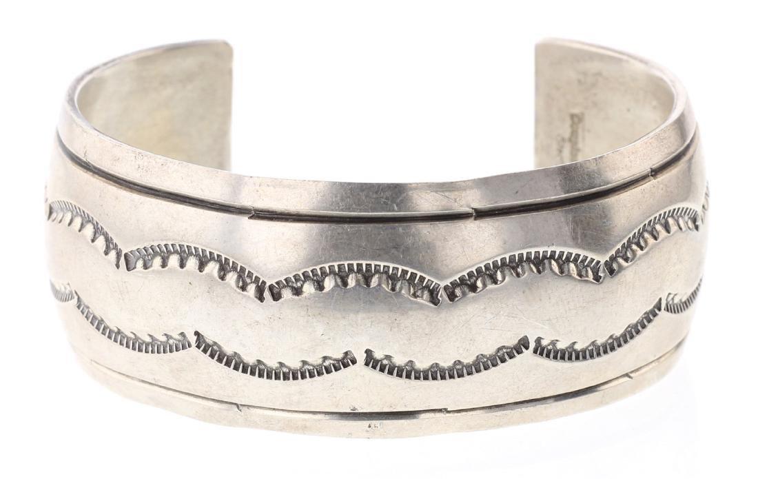 Vintage Heavy Stamp Bracelet