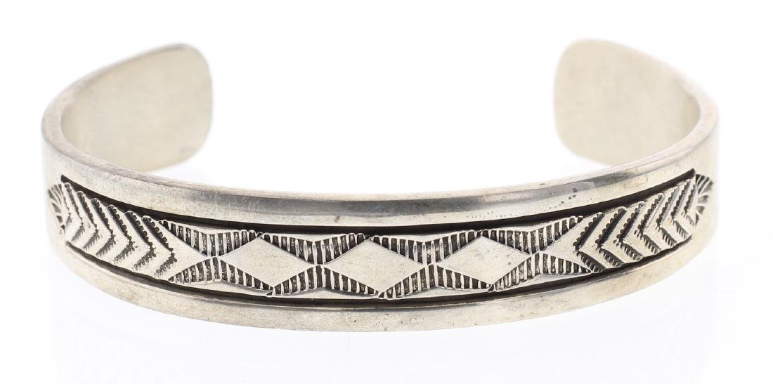 Bruce Morgan Heavy Stamp Overlay Bracelet