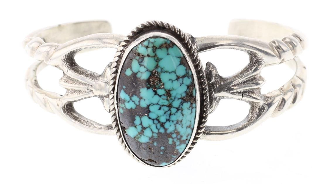 Vintage Turquoise Sand Cast Bracelet