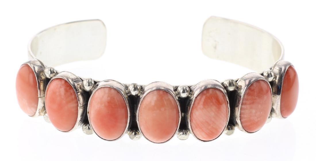 Nakai Pink Coral Row Bracelet