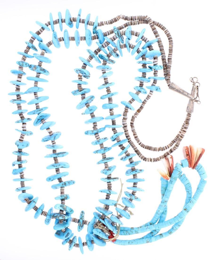 Vintage Turquoise Heishi Jacla Necklace