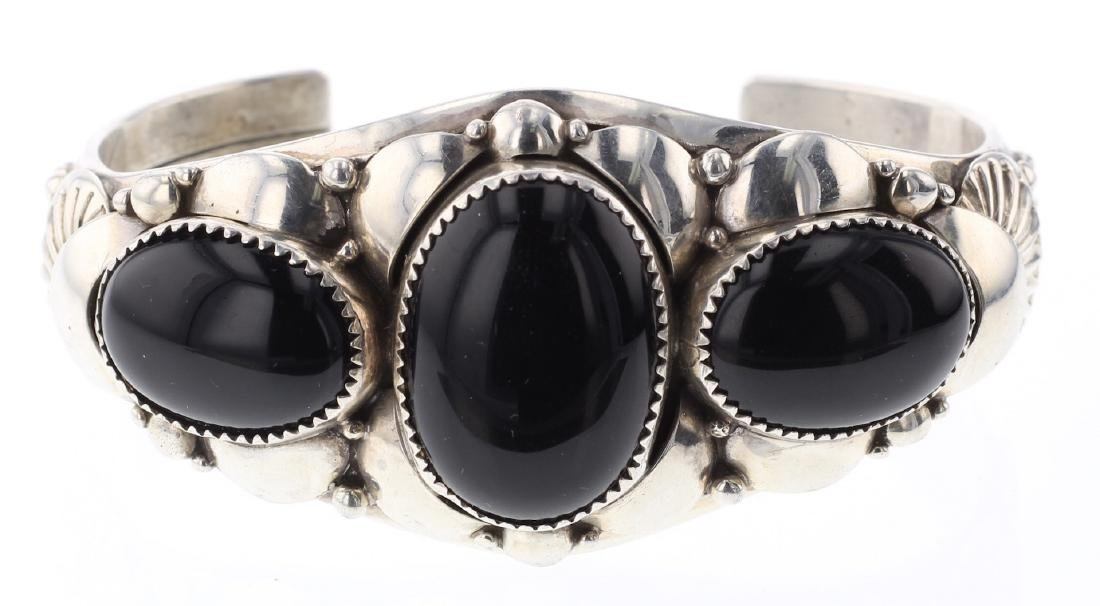 Black Onyx Heavy Gauge Bracelet