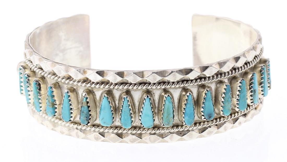 Tommy Lowe Freeform Turquoise Row Bracelet