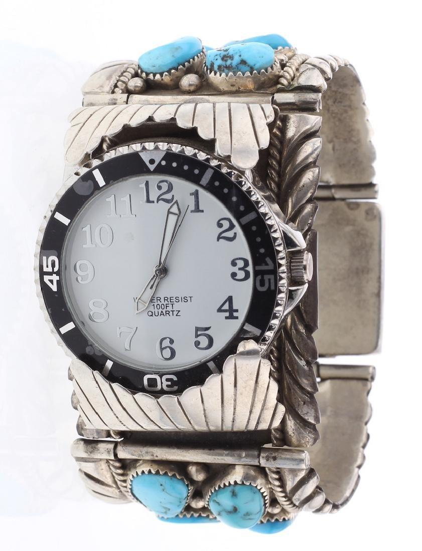 R. Lee Vintage Turquoise Clasp Watch Bracelet
